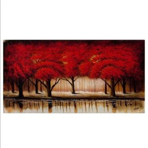Parade of Red Trees Canvas by Rio